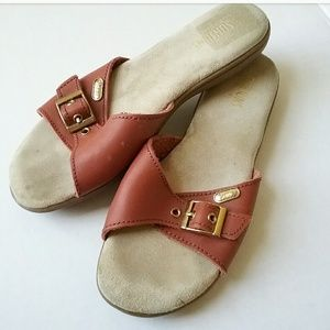 Vintage Bass Sunjuns Brown Leather Cushion Sandals